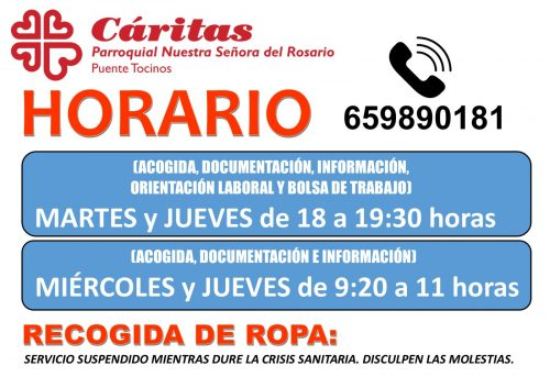 Horario Cáritas Verano_2021