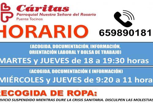 20210901_Horario Cáritas a partir de Septiembre