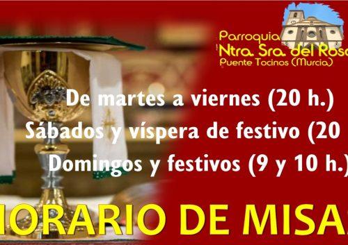 20210901_Horario misas a partir del 1 de septiembre